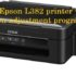 Reset Epson L382 printer with Epson adjustment program