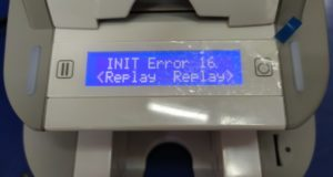 smart id card printer initializing error 16