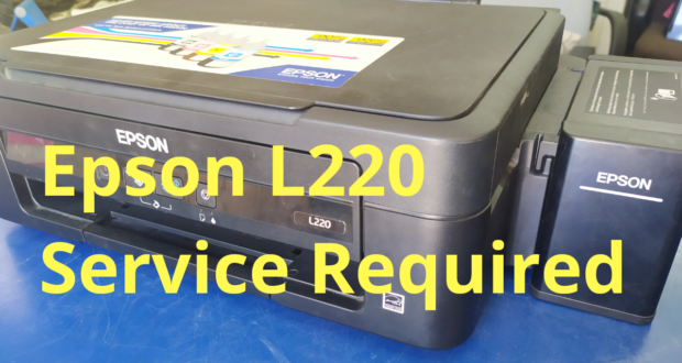 how to fix epson l220 printer service required error